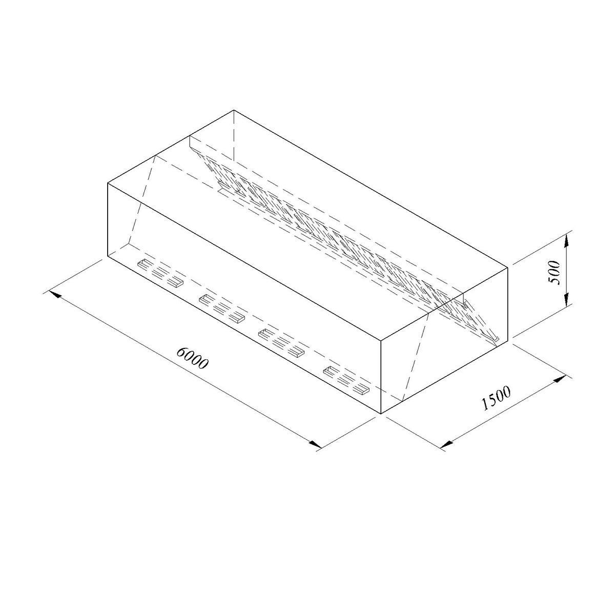 Davlumbaz Duvar Tipi Filtreli Kutu Tip Çidar  120*120