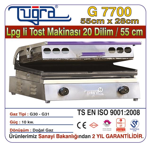 G 7700 - LPG'Lİ TOST MAKİNASI