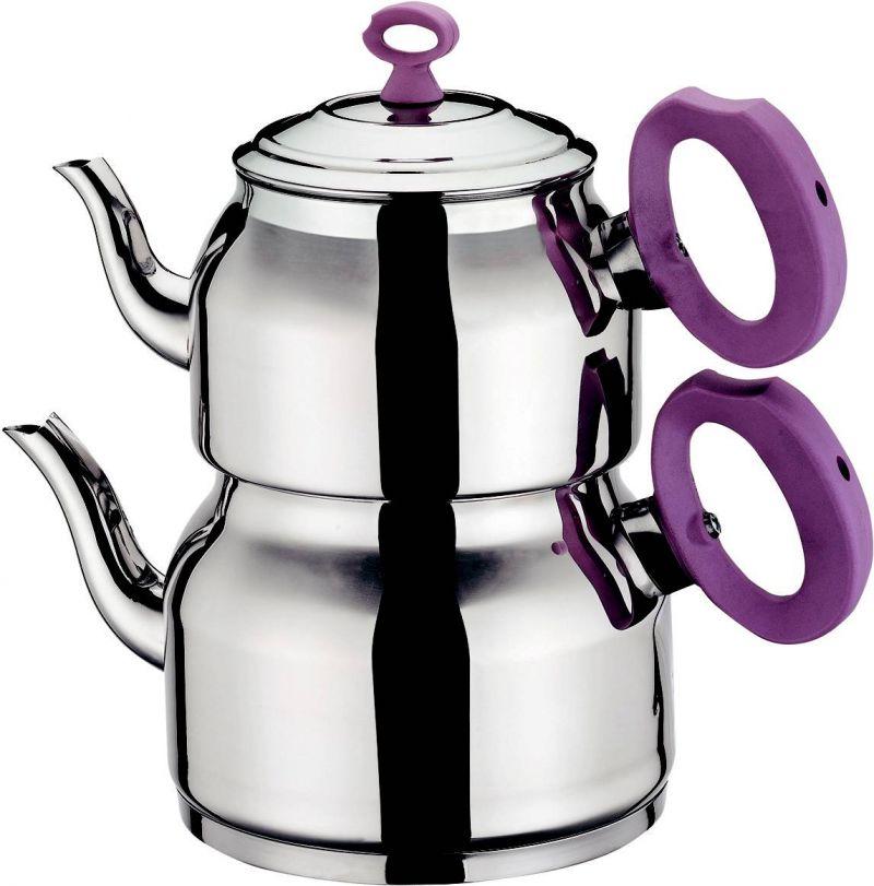 Orta Elips Çaydanlık Takımı