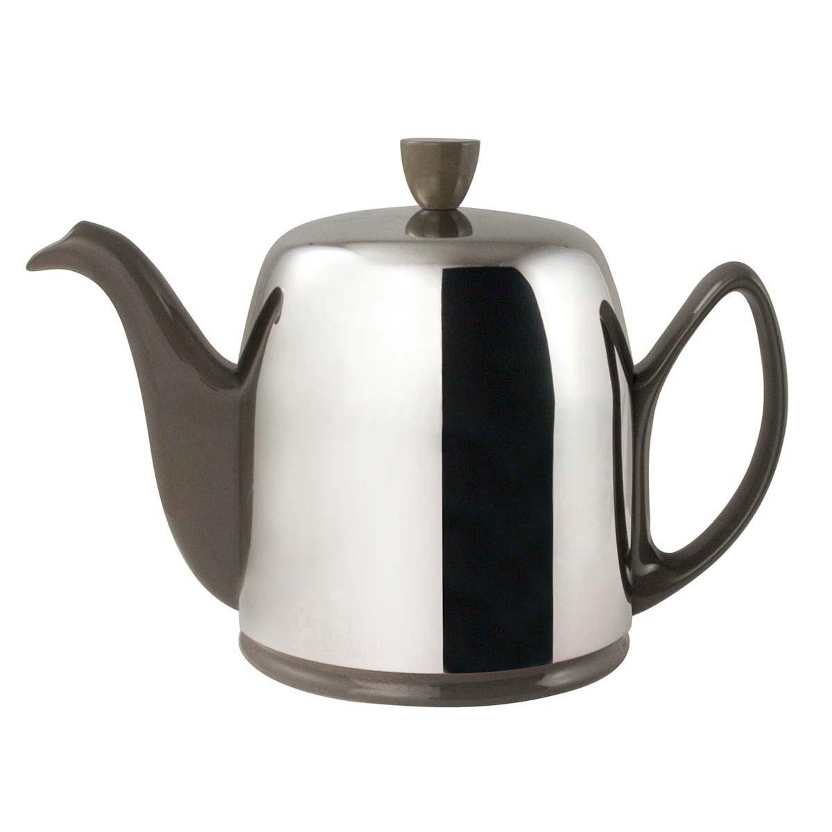 Guydegrenne Salam Model Gri Porselen Çay Potu 90 Cl